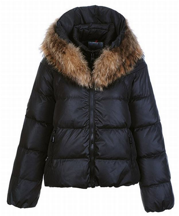 Moncler Sauvage Women Short Jacket Dark Blue
